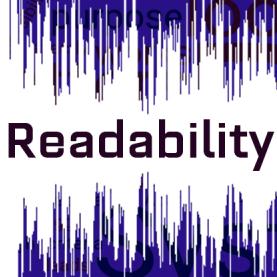 Readability over soundwave